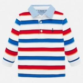 Koszulka polo z długim rękawem chłopięce Mayoral 1155-41 czerwony