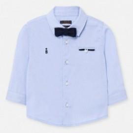 Koszula elegancka z muszką dla chłopczyków Mayoral 1162-87 Błękitny
