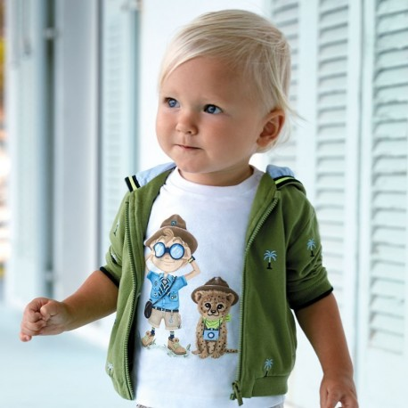 Bluza z kapturem dla chłopców Mayoral 1459-65 zielona