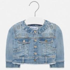 Kurtka jeans dla dziewczynki Mayoral 1471-10 niebieski