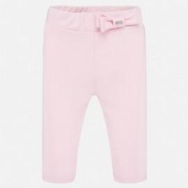 Spodnie bawełniane dla dziewczynek Mayoral 1556-92 Różowy
