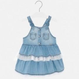 Spódniczka ogrodniczka jeansowa dla dziewczynek Mayoral 1903-5 niebieska