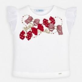 Koszulka bawełniana dla dziewczynki Mayoral 3002-53 biały