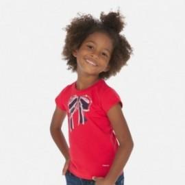 Koszulka z aplikacją dla dziewczynek Mayoral 3007-25 Czerwony