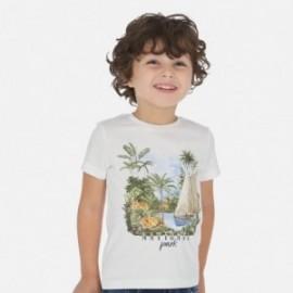 Koszulka bawełniana z nadrukiem dla chłopców Mayoral 3050-94 Biały