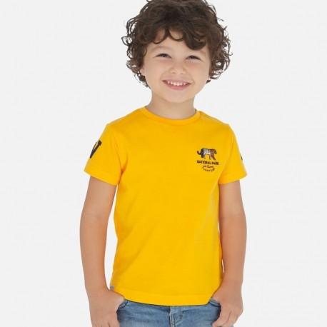 Koszulka bawełniana dla chłopców Mayoral 3051-19 pomarańcz