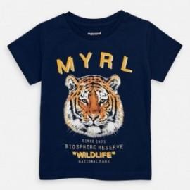 Koszulka bawełniana dla chłopców Mayoral 3052-26 granat