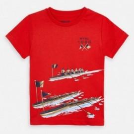 Koszulka sportowa dla chłopców Mayoral 3060-40 czerwony