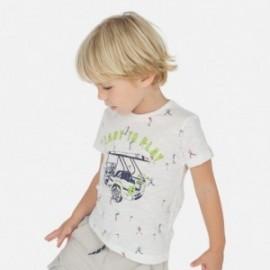 Koszulka we wzory dla chłopców Mayoral 3062-84 Biały