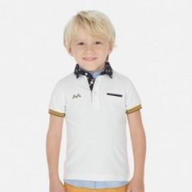 Polo eleganckie dla chłopców Mayoral 3145-52 Biały
