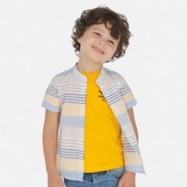 Koszula na stójce w paski chłopięca Mayoral 3162-90 Żółty