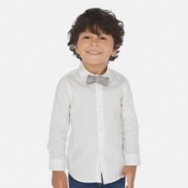 Koszula z długim rękawem z muszką chłopięca Mayoral 3173-18 Biały