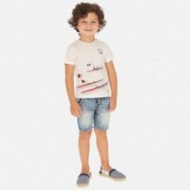 Bermudy jeans z paskiem chłopięce Mayoral 3260-78 Jeans