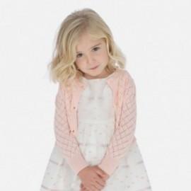 Sweter rozpinany dziewczęcy Mayoral 3321-82 Różowy