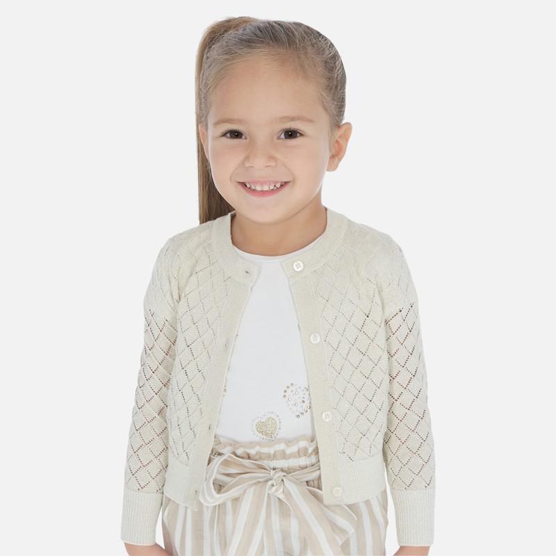Sweter rozpinany dziewczęcy Mayoral 3321-81 Beżowy