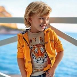 Bluza z nadrukiem chłopięca Mayoral 3446-10 Żółty