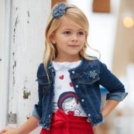Kurtka jeansowa dla dziewczynek Mayoral 3467-95 Granatowy