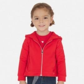 Bluza z kapturem dziewczęca Mayoral 3468-35 Czerwony