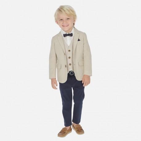 Spodnie klasyczne z paskiem chłopięce Mayoral 3531-44 Granatowy