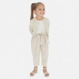 Spodnie w paski dla dziewczynki Mayoral 3540-24 Beżowy