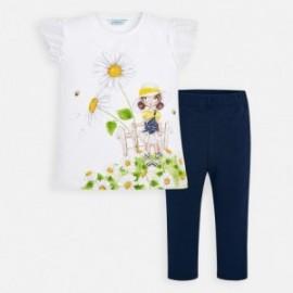 Komplet bluzka i leginsy dziewczęcy Mayoral 3720-65 Granatowy