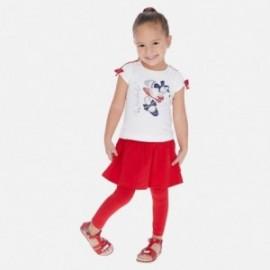 Komplet bluzka i leginsy dziewczęcy Mayoral 3722-74 Czerwony