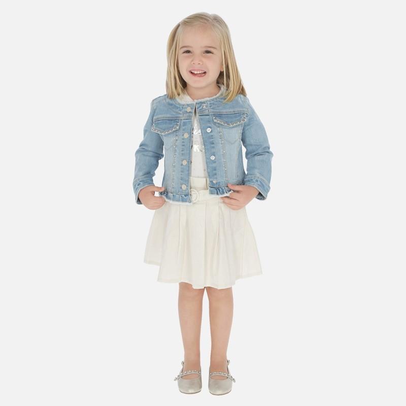 Spódnica lniana dla dziewczynki Mayoral 3902-2 Beżowy