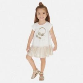 Sukienka bawełniana dla dziewczynki Mayoral 3948-28 Beżowy