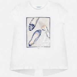 Koszulka z krótkim rękawem dziewczęca Mayoral 6011-34 Biel-granat