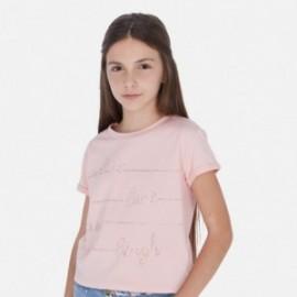 Koszulka z krótkim rękawem dziewczęca Mayoral 6019-38 Różowy