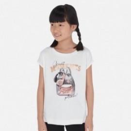 Koszulka z krótkim rękawem dziewczęca Mayoral 6023-27 Biały