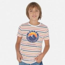 Komplet koszulek bawełnianych dla chłopca Mayoral 6066-89 pomarańcz