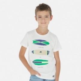 Koszulka sportowa chłopięca Mayoral 6067-40 krem
