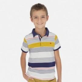 Koszulka polo w paski chłopięca Mayoral 6137-31 Granatowy