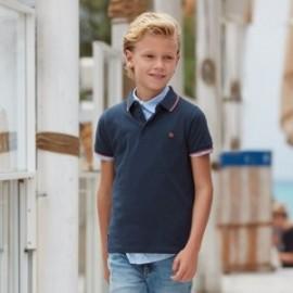Koszulka polo dla chłopca Mayoral 6143-79 Grafitowy