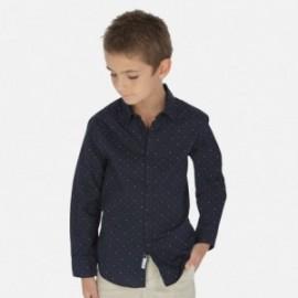 Koszula we wzory chłopięca Mayoral 6153-36 Granatowy