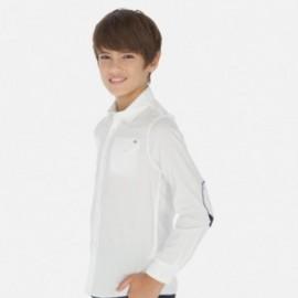 Koszula z długim rękawem chłopięca Mayoral 6157-40 Biały