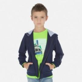 Bluza z kapturem chłopięca Mayoral 6445-25 Granatowy
