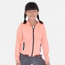 Bluza z kapturem dla dziewczyny Mayoral 6462-23 Pomarańcz neon