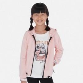 Bluza z kapturem dla dziewczyny Mayoral 6462-22 Różowy