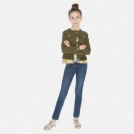 Spodnie jeans dla dziewczyny Mayoral 6530-86 Ciemny jeans