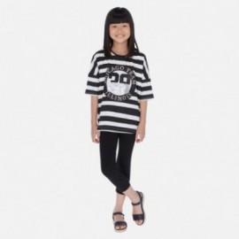 Komplet bluzka i leginsy dla dziewczyny Mayoral 6718-92 Czarny
