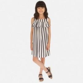 Sukienka w paski dziewczęca Mayoral 6964-42 Granatowy