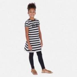 Sukienka bawełniana w paski dziewczęca Mayoral 6985-92 Czarny