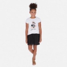 Sukienka łączona dziewczęca Mayoral 6986-49 Biały