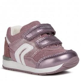 Buty sneakersy dziewczęce Geox B840LA-0MAAS-C8025 róż