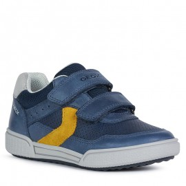 Buty sneakersy chłopięce Geox J02BCA-0CLME-C4229 granat