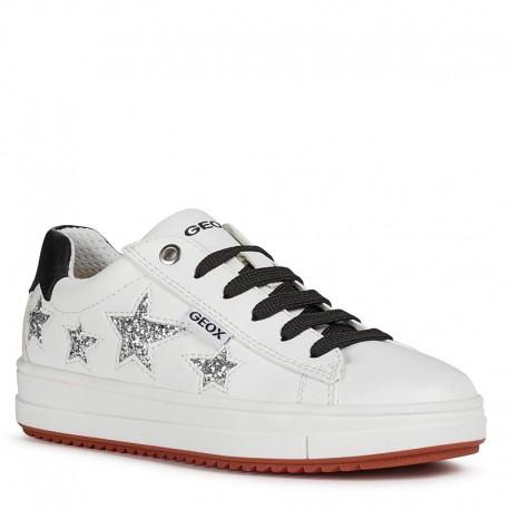 Buty sneakersy dla dziewczynek Geox J02BDB-000BC-C1000 biały