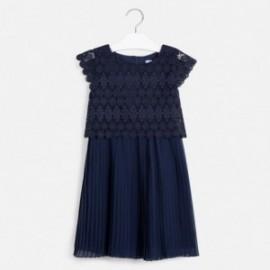 Sukienka z gipiury dla dziewczyny Mayoral 6966-39 Granatowy
