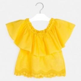 Bluzka z odkrytymi ramionami dziewczęca Mayoral 6165-44 Żółty